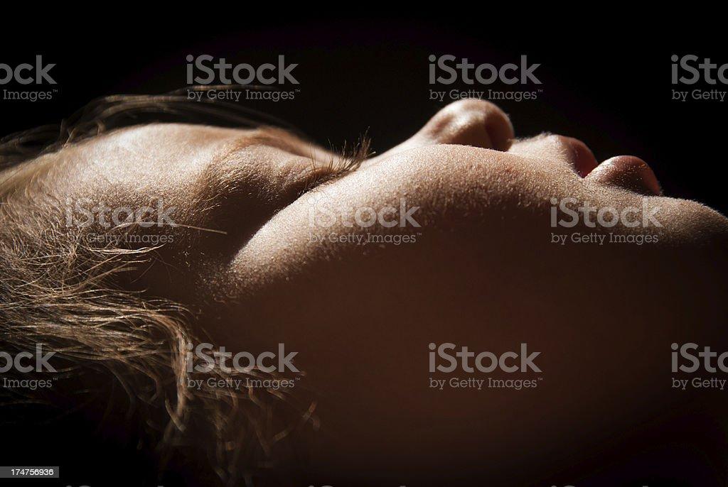 Baby girl sleeping royalty-free stock photo