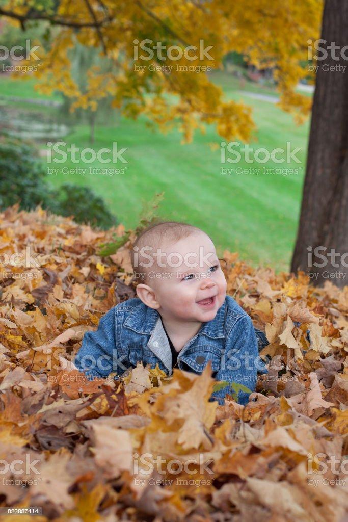 baby girl smiling stock photo