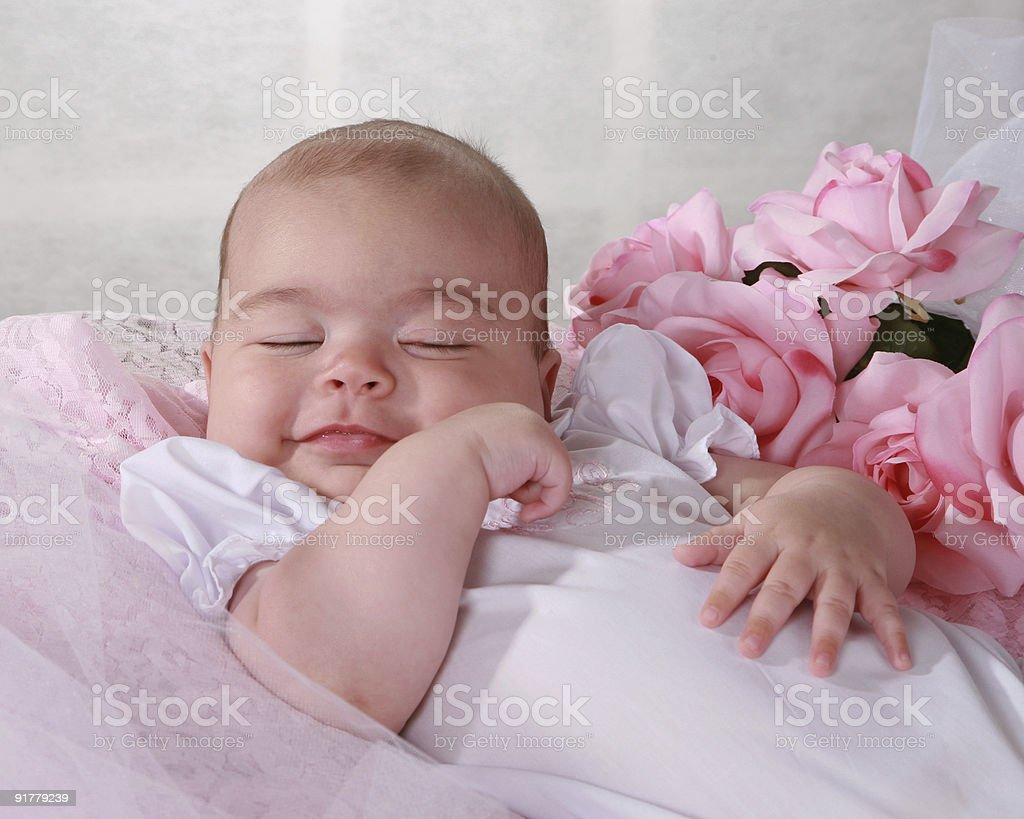Baby girl smiling royalty-free stock photo