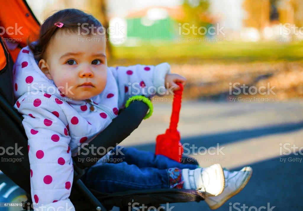 Baby girl - toddler stock photo
