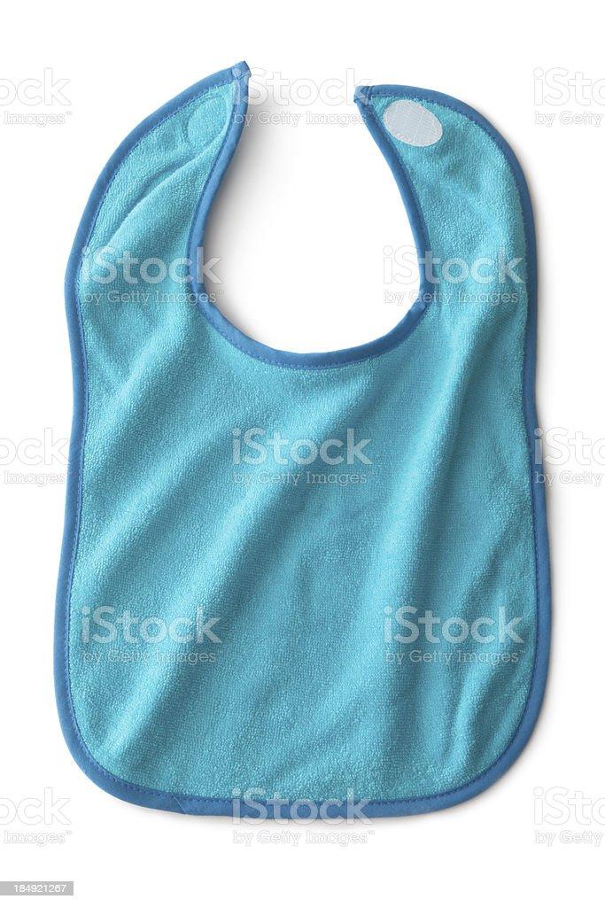 Baby Goods: Blue Bib stock photo