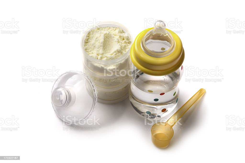 Baby Goods: Bottle with Formula stock photo