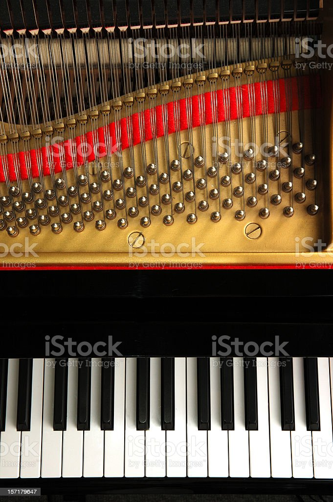 Baby Grand From Above royalty-free stock photo