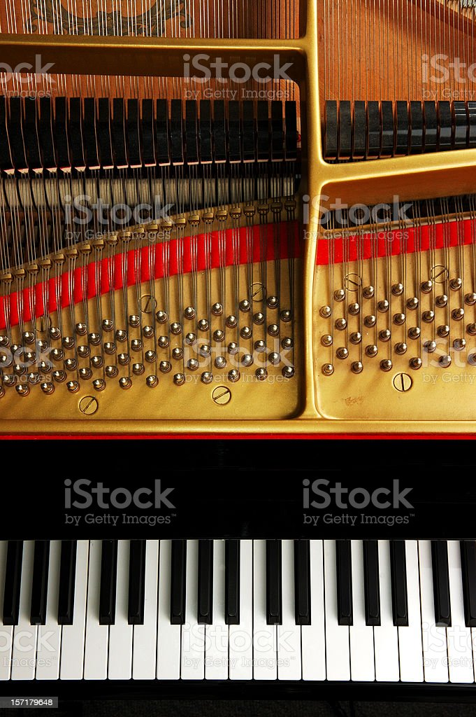 Baby Grand Piano From Above royalty-free stock photo