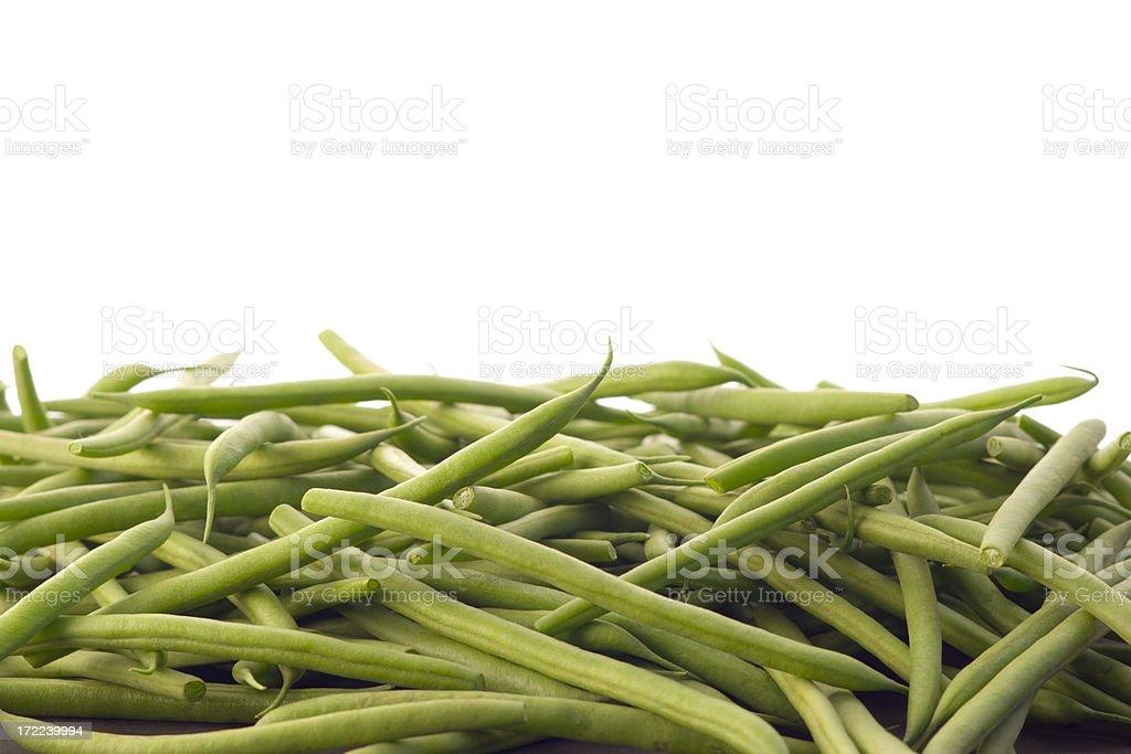 Baby Green Bean Bottom Border royalty-free stock photo
