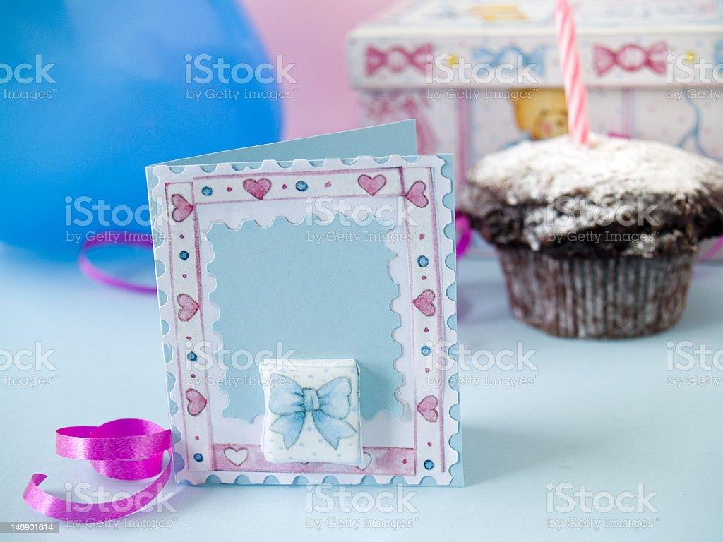 Baby greeting card royalty-free stock photo