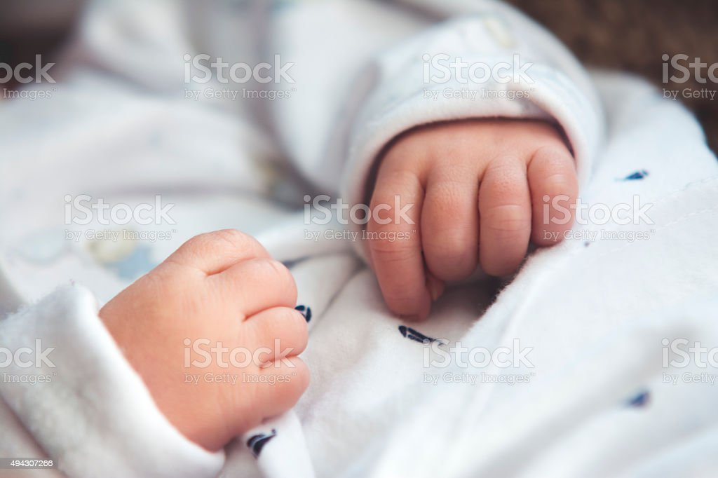 Baby Hands stock photo