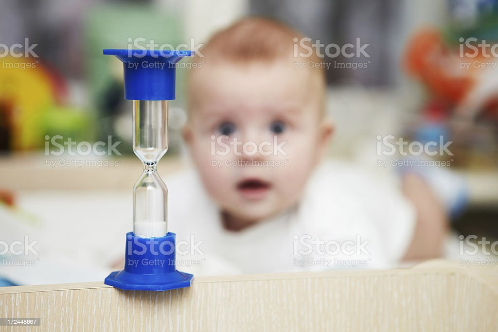 Baby healthcare and treatment. Treatment room. Medical procedure. royalty-free stock photo