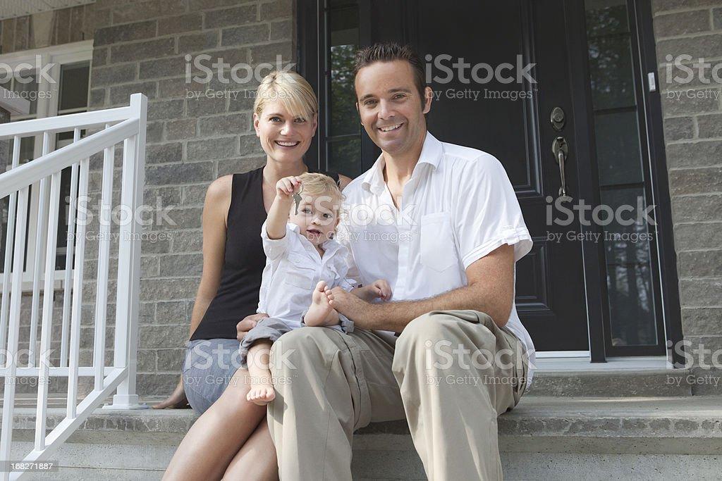 Baby Holding Keys Of The New Family's House stock photo