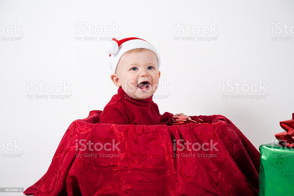 baby in a box royalty-free stock photo