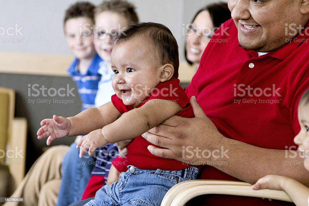 Baby in a Waiting Room royalty-free stock photo