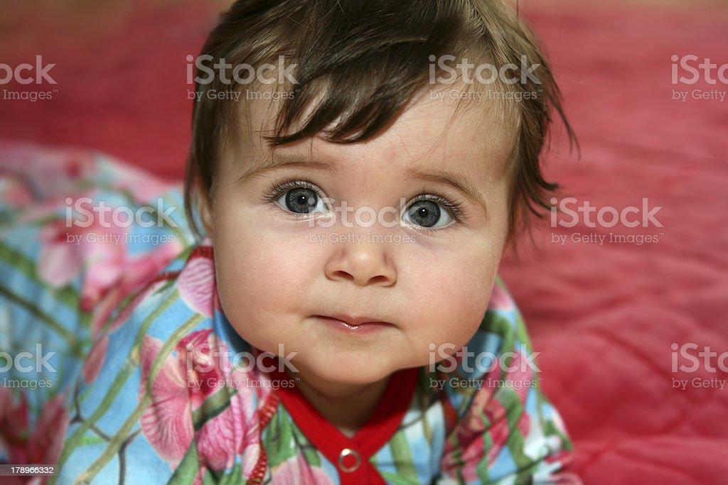 Baby in balls stock photo