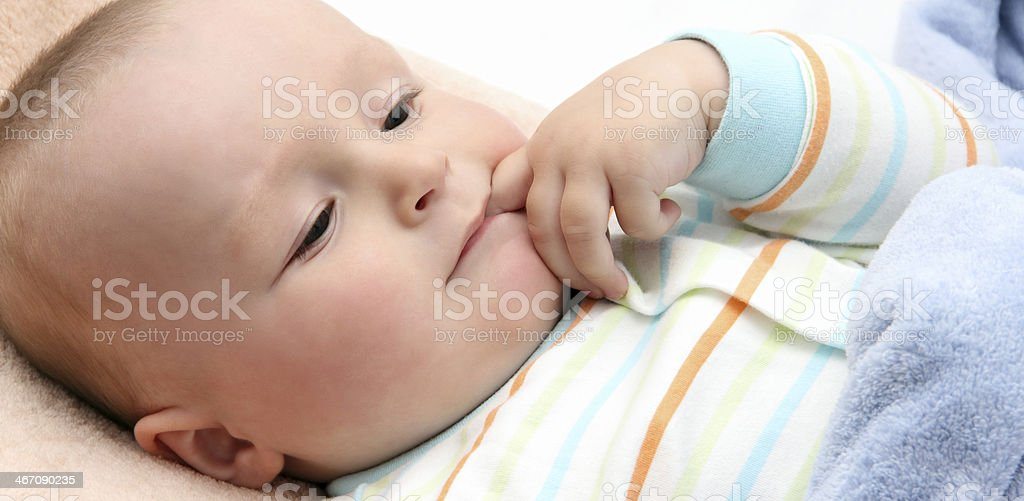 baby in bed royalty-free stock photo
