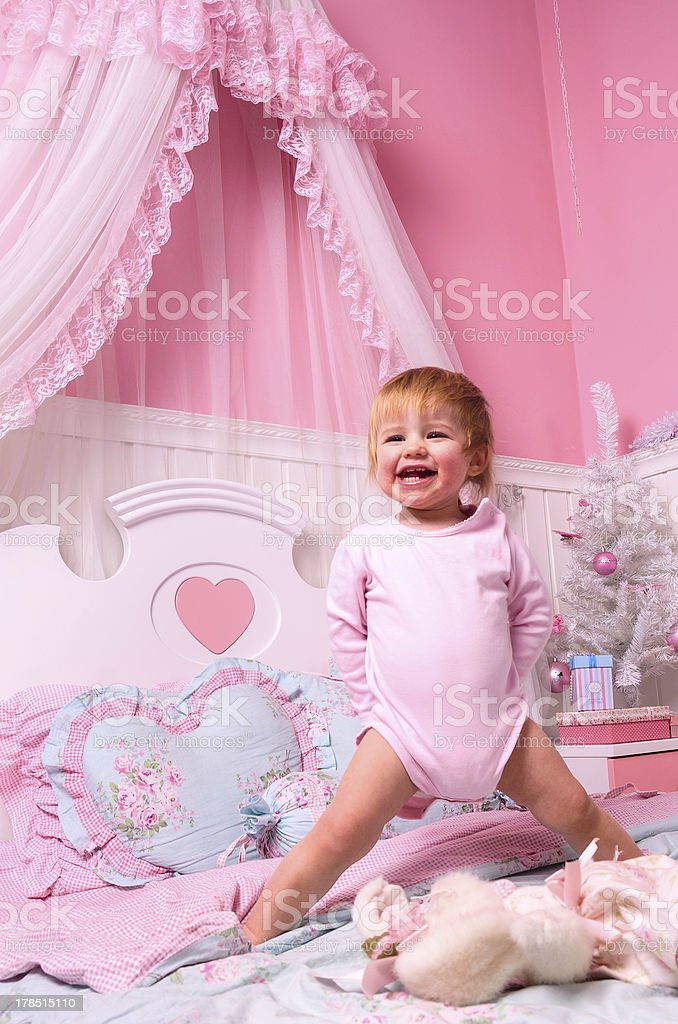 baby in bedroom royalty-free stock photo