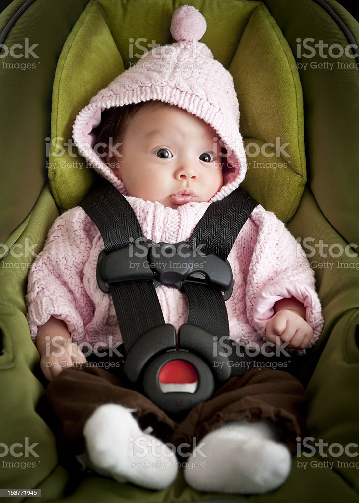 Baby in car seat royalty-free stock photo
