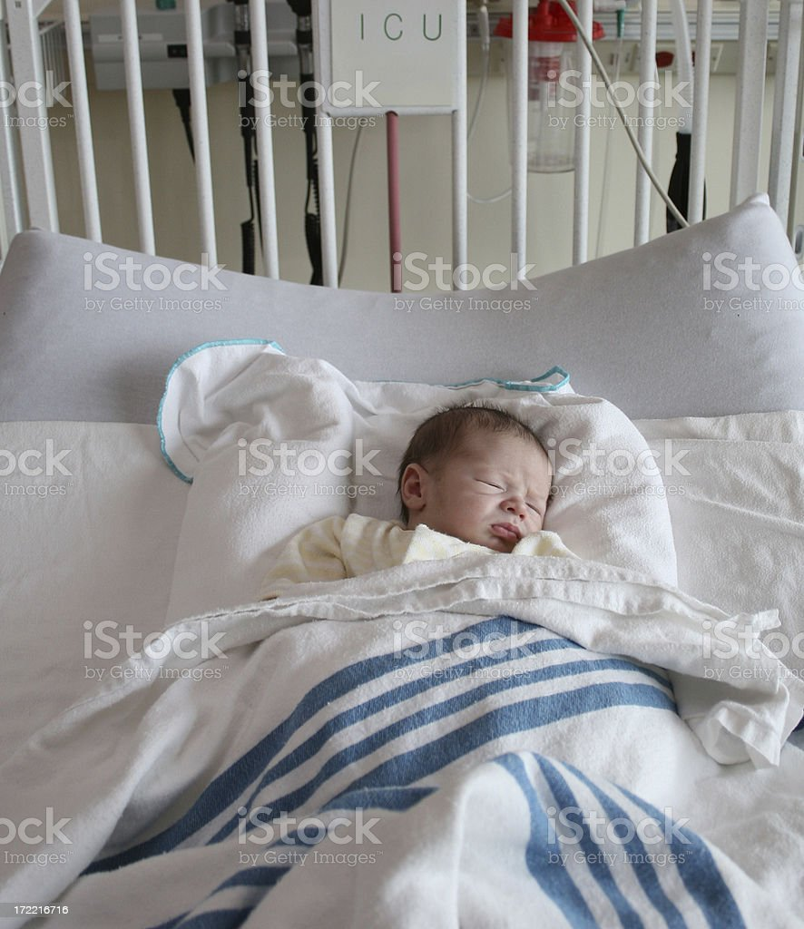 Baby in ICU stock photo