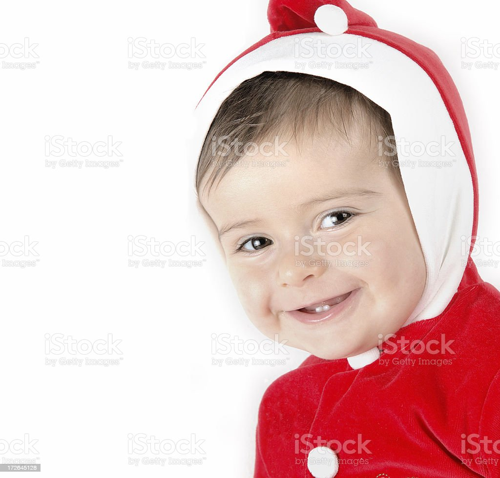 Baby in Santa suit royalty-free stock photo
