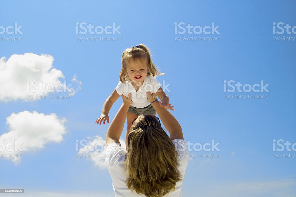 Baby in the Sky royalty-free stock photo