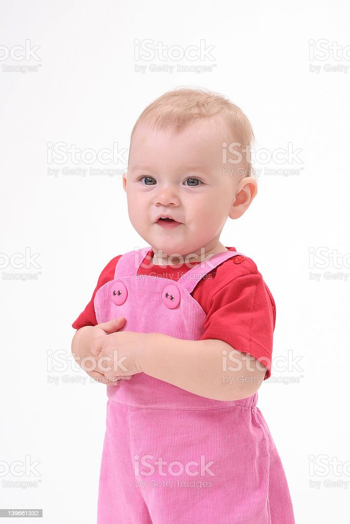 Baby in white background royalty-free stock photo