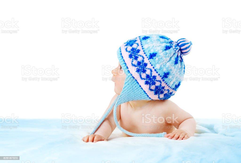 Baby isolated on white background stock photo