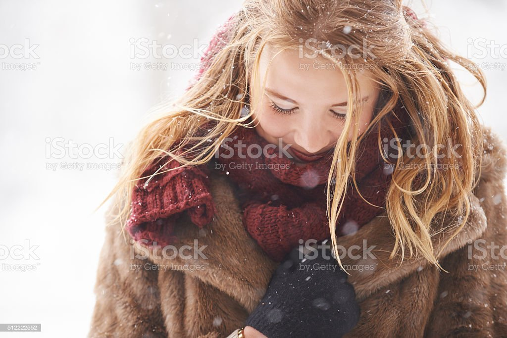 Baby, it's cold outside stock photo