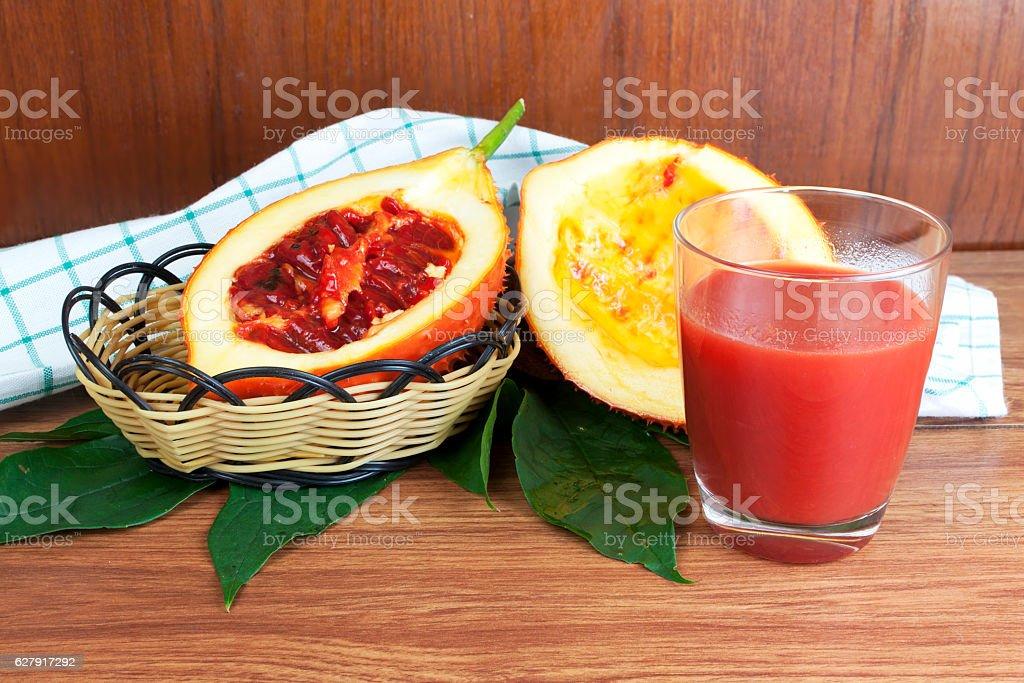 Baby Jack fruit and juice stock photo