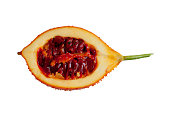 Baby Jackfruit isolated sliced in half