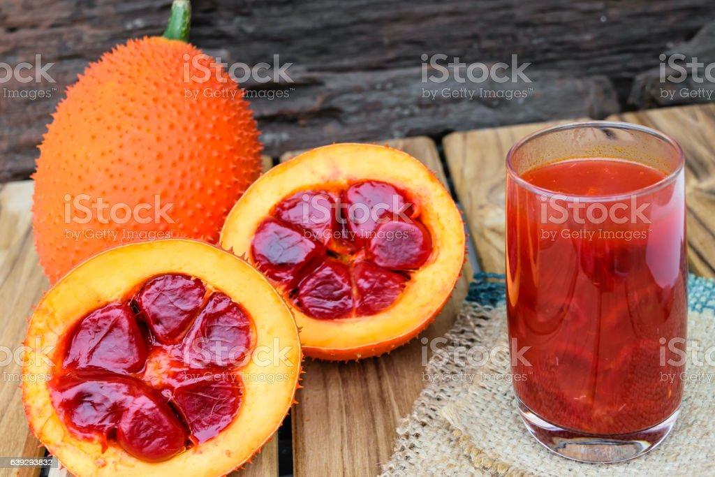 baby jackfruit spiny bitter gourd stock photo