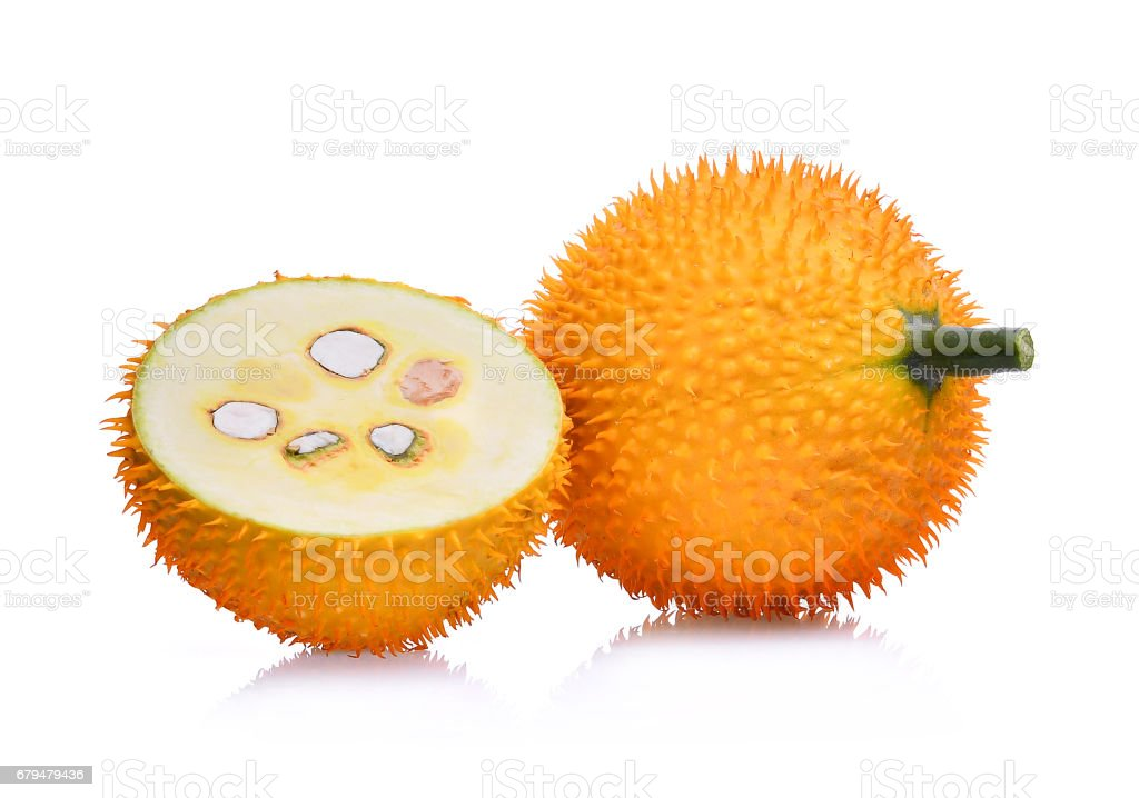 Baby Jackfruit,Gac fruit isolated on white background stock photo
