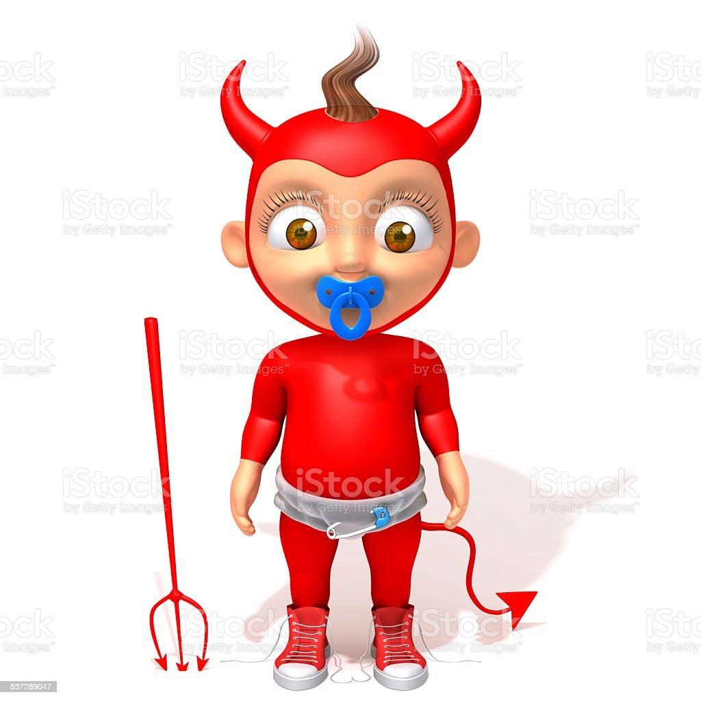 Baby Jake devil 3d illustration stock photo