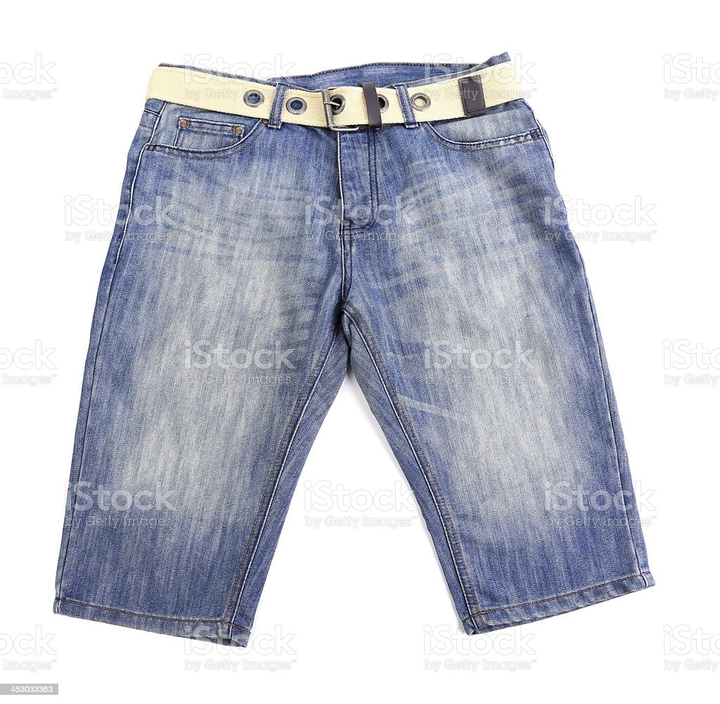 baby jeans isolated on white background stock photo