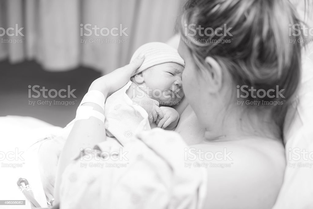 Baby Just Born stock photo