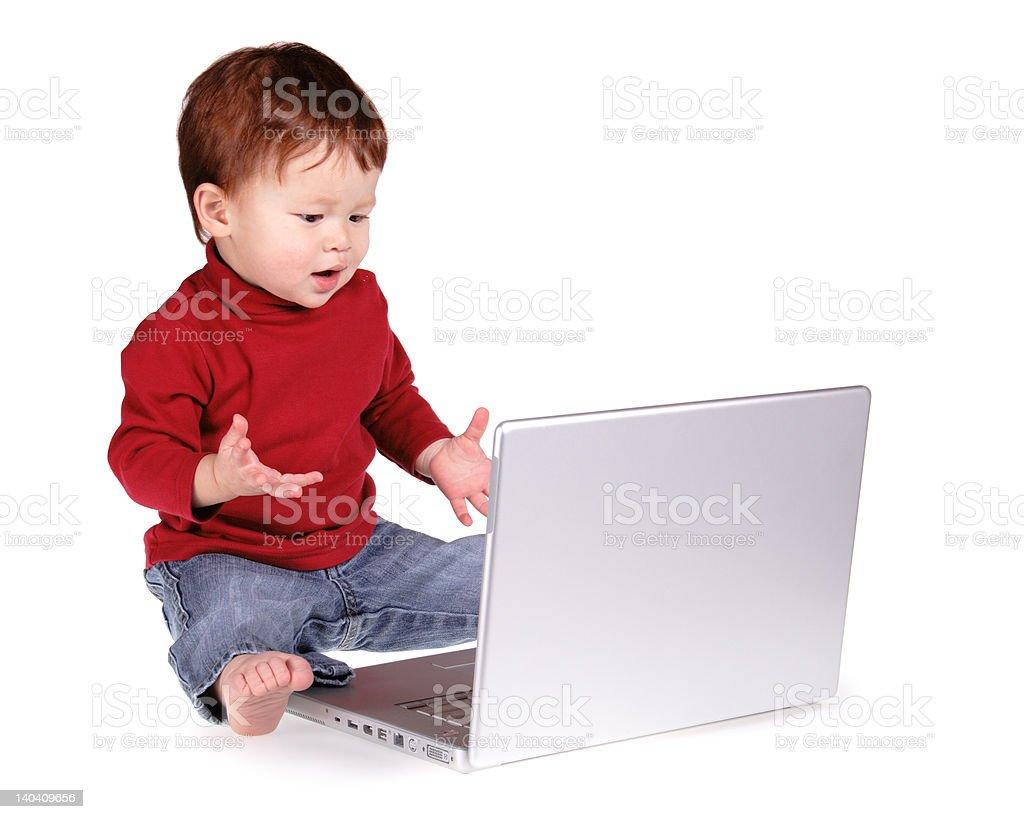 Baby Laptop royalty-free stock photo