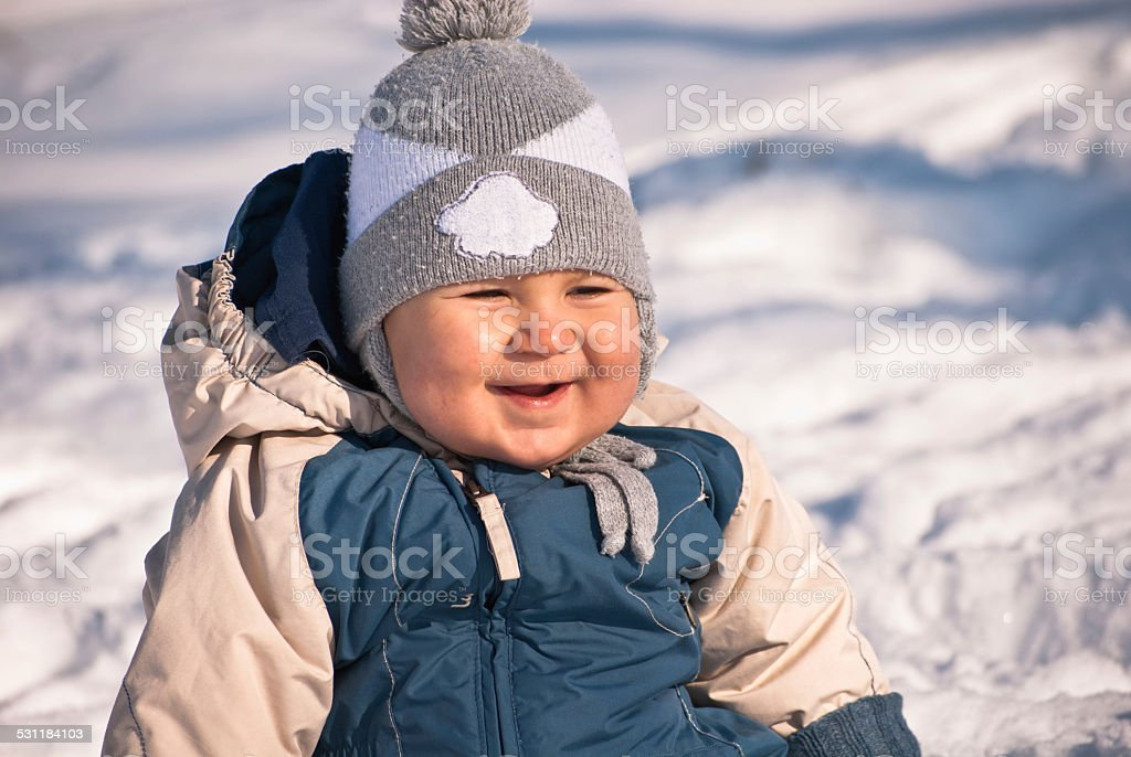 Baby laughing stock photo