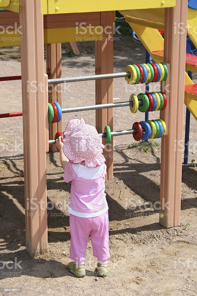 baby learning count royalty-free stock photo
