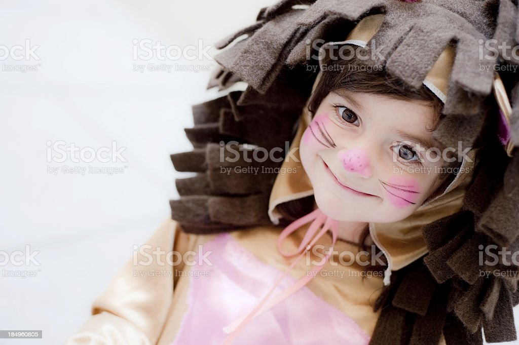 Baby Lion Girl stock photo