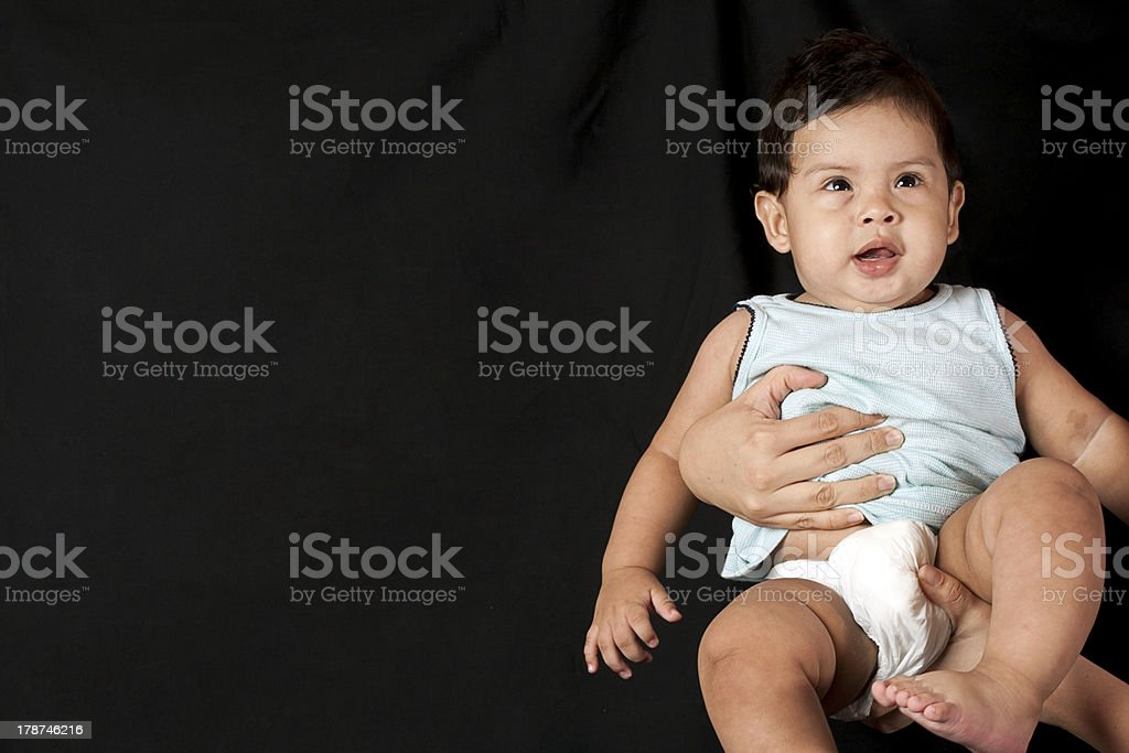 baby looking up royalty-free stock photo