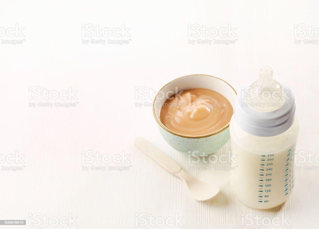 baby milk bottle stock photo