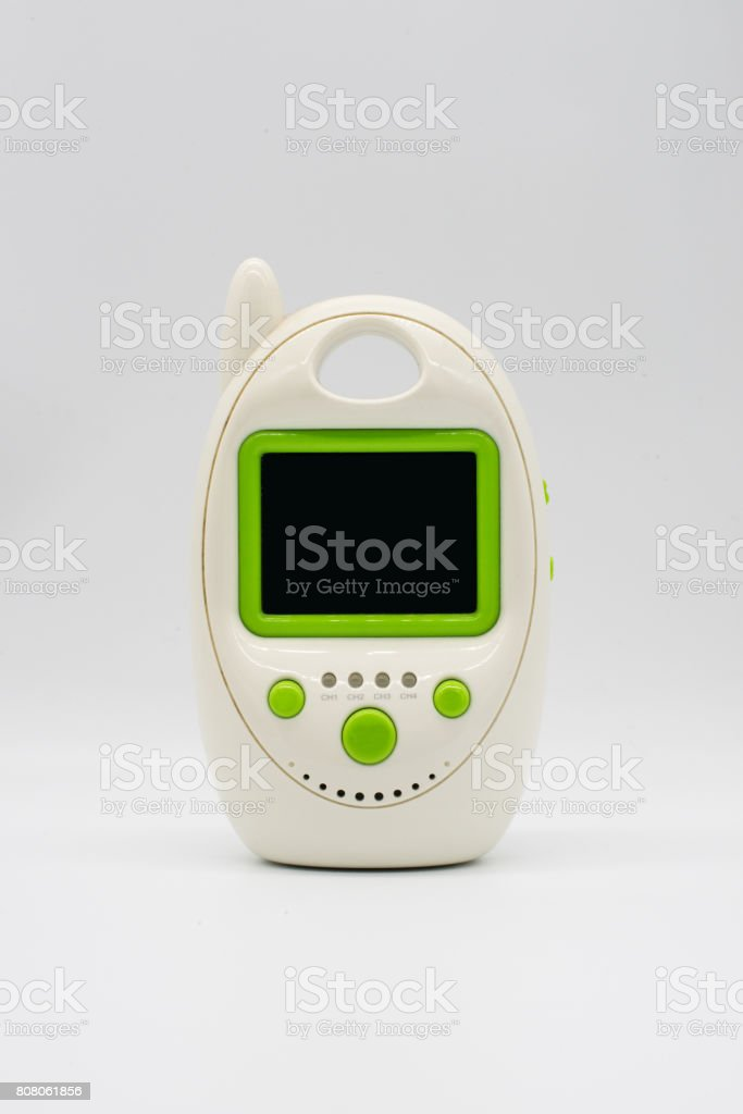 A baby monitor isolated on white stock photo