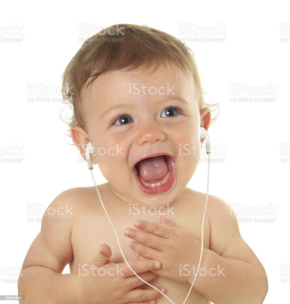 Baby music royalty-free stock photo