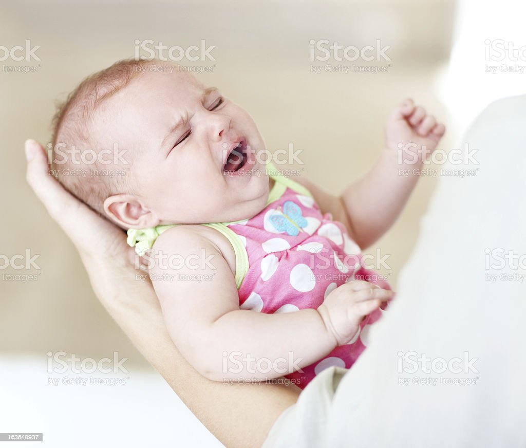 Baby needs her nappy changed! royalty-free stock photo