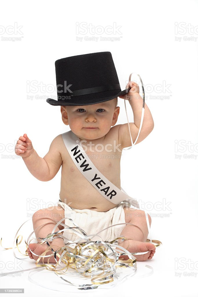 Baby New Year royalty-free stock photo