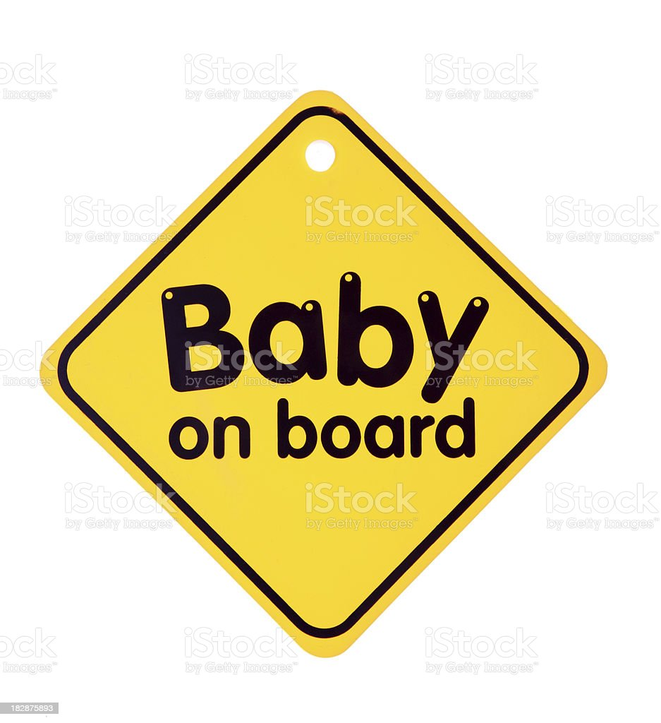 baby on board sign royalty-free stock photo