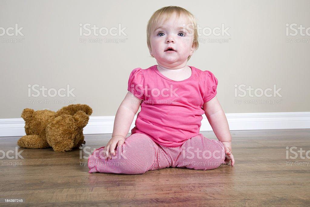 Baby On The Floor stock photo