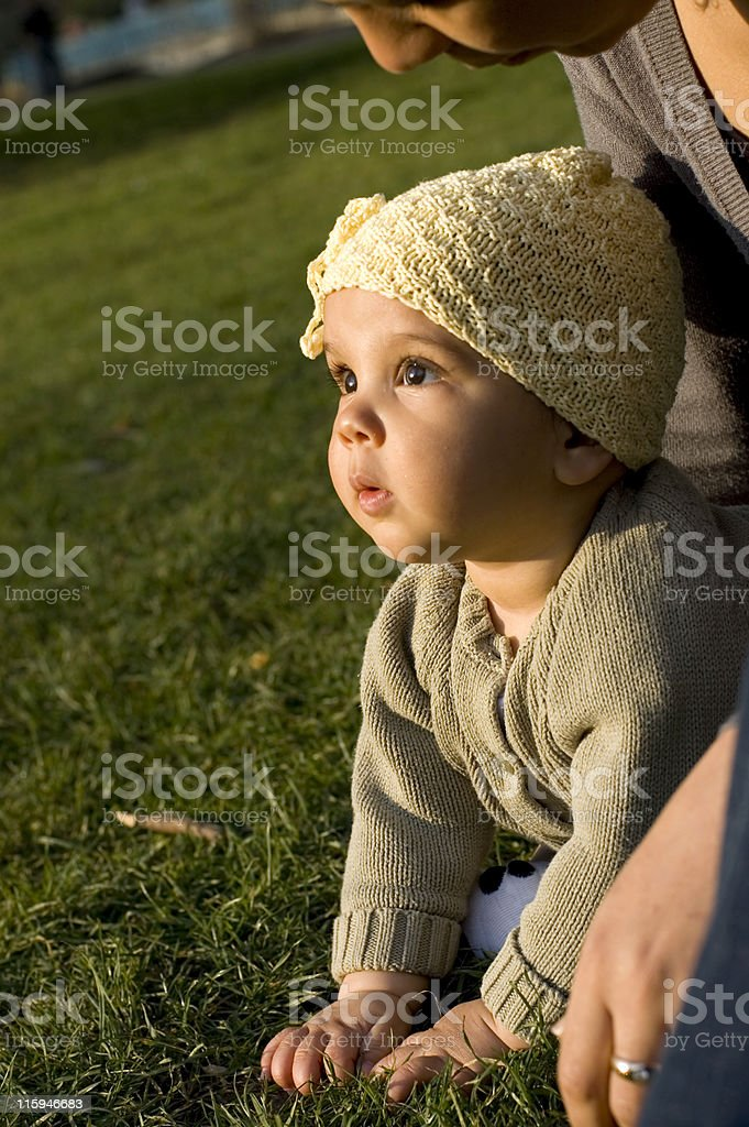 baby on the grass royalty-free stock photo