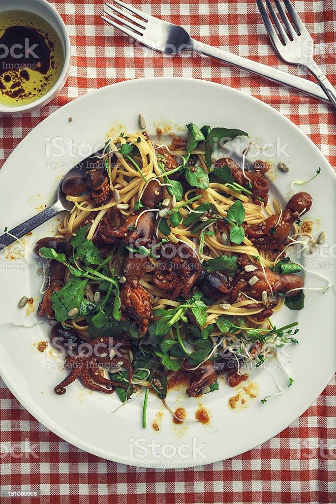 Baby optopus pasta royalty-free stock photo