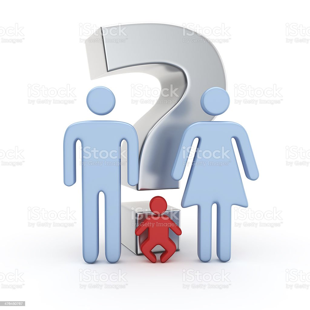 Baby or not? stock photo
