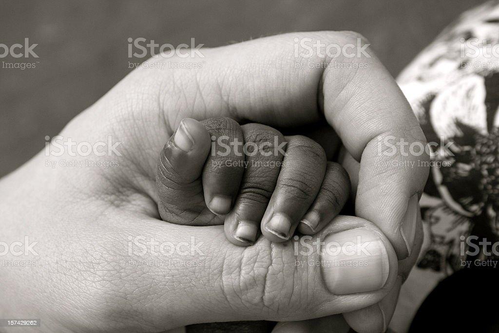 Baby Orphan Hand royalty-free stock photo