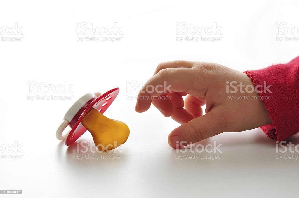 Baby pacifier stock photo
