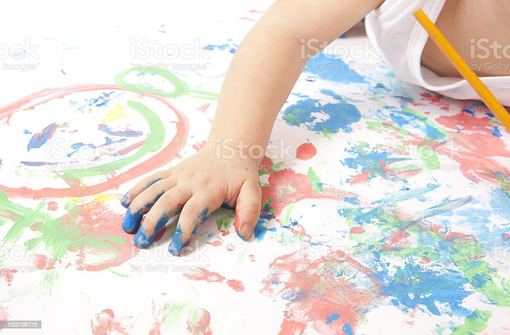 Baby Painting royalty-free stock photo